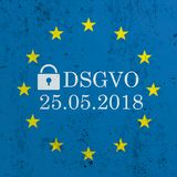 Blue Concrete EU Flag DSGVO Royalty Free Stock Images
