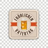 Beer Coaster Froehlichen Vatertag Transparent Stock Photos