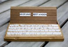 German text: Pruefung Bestanden Royalty Free Stock Images