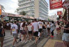 German tourists at El arenal Stock Images