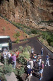 German Tourists at Zion National Park Stock Photography