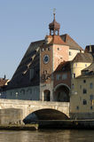 German town regensburg with historical buildings Royalty Free Stock Image