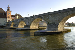 German town regensburg with historical buildings Stock Photo