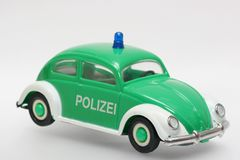 German toy police car VW Beetle Stock Image