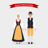 German Traditional Clothes People. Cloth costume culture, ethnic girl, dress national  and person woman,  native cultural,  human clothing, nationality man Stock Photography