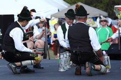 German traditional dancers stock images