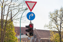 German traffic light Stock Images