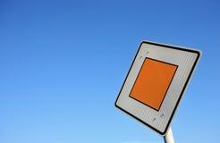 German traffic sign Stock Photo