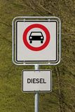 Diesel driving prohibited Stock Images