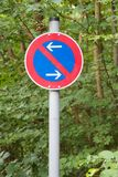 German traffic sign: Restricted parking zone Stock Photo