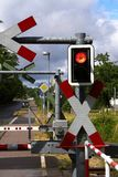 Train crossing in Germany stock photography