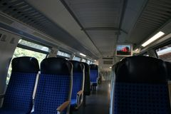 German train interior royalty free stock image
