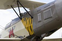 German training aircraft Bücker Bü 131 Jungmann used by Luftwaffe during World War II. Stock Images