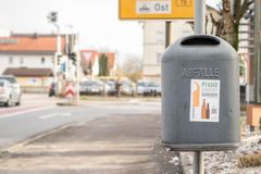 German trash can Stock Photography