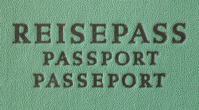 German Travel Passport. Reisepass in german Stock Photography