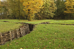 German trenches WWI - Bayernwald Stock Images