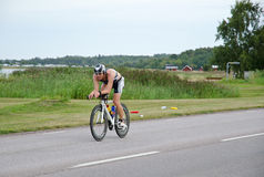 German triathlete at Ironman Sweden 2012 Royalty Free Stock Image
