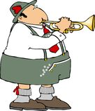 German Trumpet Player Royalty Free Stock Image