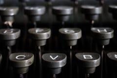 German typewriter keys old, vintage Stock Photography