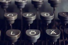 German typewriter keys old, vintage Royalty Free Stock Photo