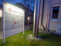 German unemployment office at night Royalty Free Stock Photography