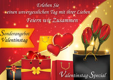German Valentine`s Day special offer Royalty Free Stock Photography