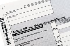 German VAT Stock Photo