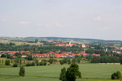 German village. Landscape view of a village Royalty Free Stock Photography