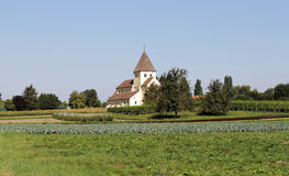 A german Village Church and Tower Royalty Free Stock Images