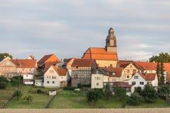 German village in the evening Stock Photos