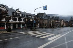 German Village Houses in Brodenbach stock photos