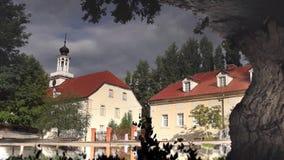 German village like a mirage stock footage