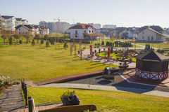 German village Residential area. Krasnodar Stock Photos