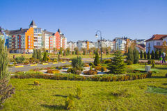 German village Residential area. Krasnodar Stock Image