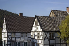 German village with timbered houses Stock Images