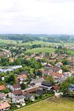 German village on viewing from tower at Andechs Monastery Royalty Free Stock Photos
