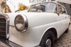 German vintage car with tail fin royalty free stock images