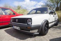 German volkswagen golf II car Stock Photos