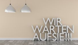 German We wait for you, business concept stock illustration