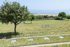 German war cemetary Maleme. German war cemetary overlooking the airstrip where German paratroopers landed 1941 during World War II. Maleme, Crete, Greece, Europe Stock Images