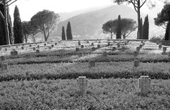 German war cemetery in Cassino Royalty Free Stock Photography