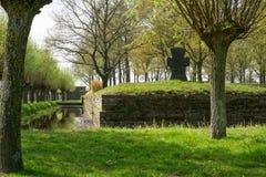 German war cemetery of Langemark Stock Photos
