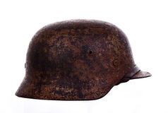 German war helmet. Isolated on white background Stock Photography