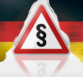 German warning road sign Royalty Free Stock Photo