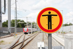 German warning sign Stock Photography