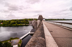German Water Dam Royalty Free Stock Photos