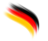 German wave. Wave im german colors, black, red, gold vector illustration