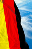 German waving flag on a beautiful day Royalty Free Stock Photography