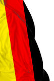German waving flag on white background Stock Photography