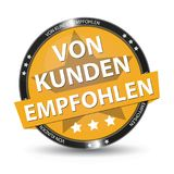 German Web Button - Translation: Recommended By Customers. Isolated On White Background Royalty Free Stock Image